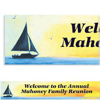 Silhouette Sailboat Custom Banner 6ft