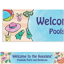 Poolside Soiree Custom Banner 6ft