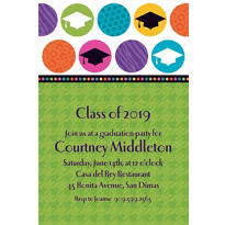Colorful Commencement Custom Graduation Invitation