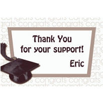 Custom White Congrats Grad Thank You Notes