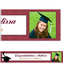 Burgundy Congrats Grad Custom Photo Banner 6ft