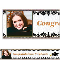 Custom Black & White Photo Banner 6ft