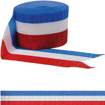 Red, White & Blue Crepe Streamer 42ft