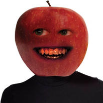 Latex Annoying Orange Midget Apple Mask