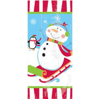 Joyful Snowman Large Party Bags 11 1/2in x 5in 20ct