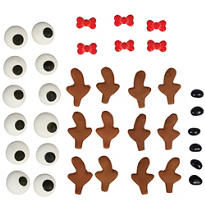 Reindeer Cookie Decorating Kit for 6
