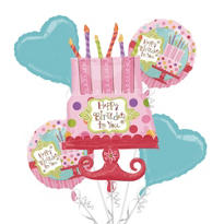 Balloon Bouquet 5pc - Sweet Stuff