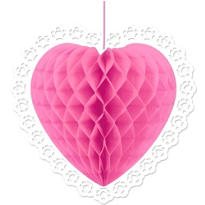 Pink Heart Honeycomb Ball 14in