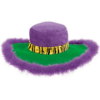 Mardi Gras Feathered Pimp Hat