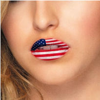 American Flag Lip Tattoos