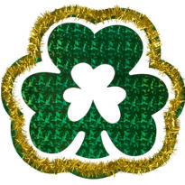 Prismatic Shamrock Hanging Decoration 16in
