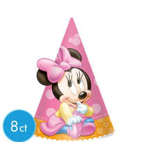 Minnie Mouse 1st Birthday Party Hats 8ct