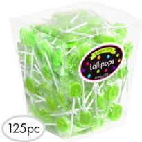 Kiwi Green Lollipops 125pc
