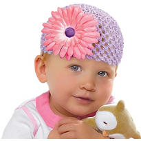 Baby Girls First Easter Knit Cap