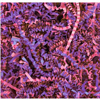 Pink and Lavender Paper Easter Grass
