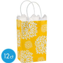 Yellow Mum Mini Gift Bag 12ct
