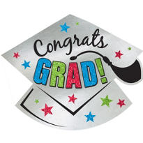 Glitter Graduation Cutout 16in