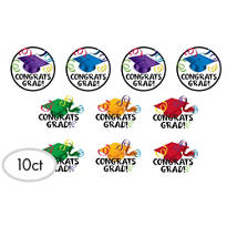 Multicolor Graduation Cutouts 10ct