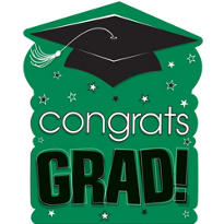 Green Congrats Grad Cutout 15in