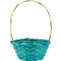 Blue Round Easter Basket