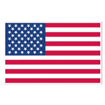 Vinyl American Flag Decoration 6ft