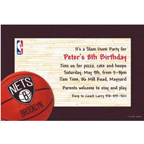 Brooklyn Nets Custom Invitation
