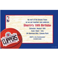 Los Angeles Clippers Custom Invitation