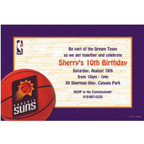 Phoenix Suns Custom Invitation