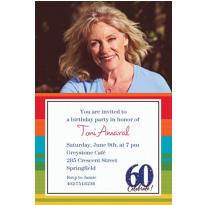 A Year to Celebrate 60 Custom Photo Invitation