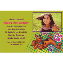 Scooby Doo Custom Photo Invitation