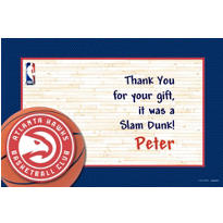 Atlanta Hawks Custom Thank You Note