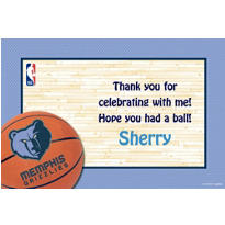 Memphis Grizzlies Custom Thank You Note