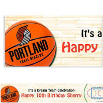 Portland Trail Blazers Custom Banner 6ft