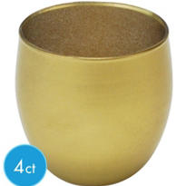 Gold Glass Votive 4ct