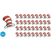 Cat in the Hat Cutouts 5in 36ct