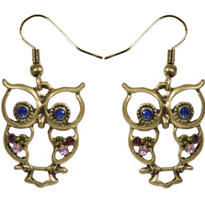 Jeweled Owl Earrings
