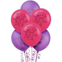 Latex Dora the Explorer Balloons 6ct