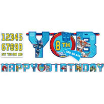 Add an Age Transformers Birthday Banner 10ft