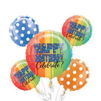 Happy Birthday Balloon Bouquet - A Year to Celebrate