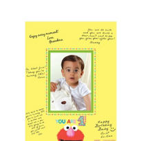 Sesame Street 1st Birthday Autograph Photo Mat