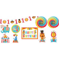 1st Birthday Fisher-Price Circus Room Decorating Kit 10pc