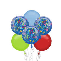 Hanukkah Fun Balloon Bouquet 6pc
