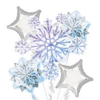 Snowflake Cluster Balloon Bouquet 5pc