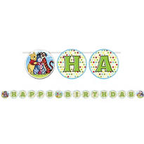 Pooh and Pals 1st Birthday Banner 10ft