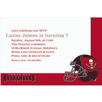 Tampa Bay Buccaneers Custom Invitation