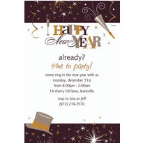 Elegant Celebration Custom Invitation