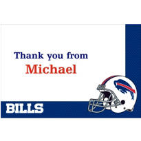 Buffalo Bills Custom Thank You Note
