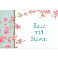 Cherry Blossom Love Custom Thank You Note