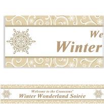Shimmering Snowflake Custom Christmas Banner