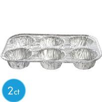 Aluminum Muffin Pans 2ct